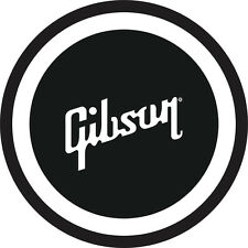 """Gibson Guitar 7"""" Black and White Metal Sign"""