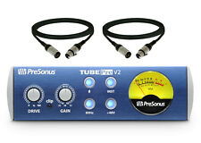 PreSonus TubePre v2 Compact Single-channel Mic Preamp w/2 XLR Cables New