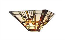 Wall Sconce Light Fixture Mission Arts & Craft Tiffany Style Stained Glass