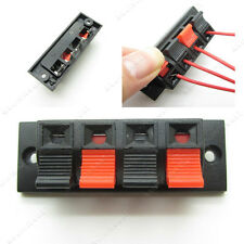 5 x Red Black Speaker Cable Terminal Block 4 Way Connector Spring Clip Socket