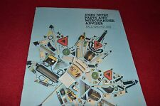 John Deere Parts & Merchandise Adviser Fall Winter 1982 Dealer's Brochure  LCOH