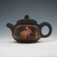 Chinese Yixing Sand-fired (ZiSha)Handwork Pornography diagram Teapot&Lid XZS29
