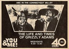 1981 WGGB TV AD~LIFE AND TIMES OF GRIZZLY ADAMS~DAN HAGGERTY & DON SHANKS