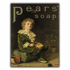 PEARS SOAP METAL SIGN WALL PLAQUE Vintage Bathroom Kitchen Advert art print 1890
