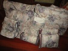 CROSCILL CHAMBORD CASSIS FLORAL AMETHYST SAGE GREEN (8PC) QUEEN COMFORTER SET