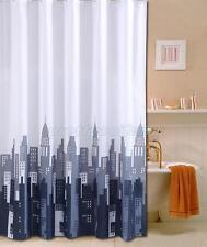 New York City Picture Design Bathroom Fabric Shower Curtain Ps863