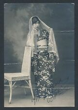 1920 Mme SZUMA, Beautiful Actress Tokio, Japan Vintage SIGNED Photo