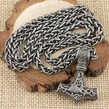 Viking Thor's Hammer Special Edition Iron Grey Mjolnir And Keel Chain Necklace