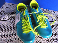 ADIDAS Track & Field~Teal & Yellow SPIDER 3 W Track  Running Shoes~Women's 7