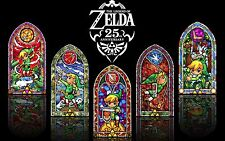 The Legend of Zelda Stained Glass - Wall Poster 34 in x 22 in - ( One Poster )