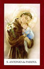 SANTINO - HOLY CARD- IMAGE PIEUSE - Heiligenbild  - S.ANTONIO da PADOVA