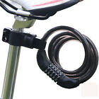 Bike Bicycle Cycling 4-Digital Password Security Combination Lock Steel Cable
