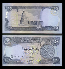 Iraqi Dinar 250 New  Crisp Uncirculated  *  1 Free With Every Five Purchased *