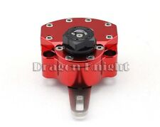 Universal Motorcycle Red Front CNC Aluminum Steering Damper Stabilizer