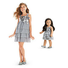 American Girl CL MY AG DUO SILVER SHIMMER DRESS SIZE 8 for Girls & Dolls Holiday