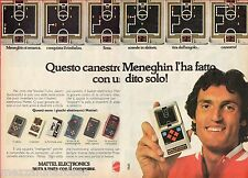 Pubblicità Advertising MATTEL ELECTRONICS 1979 Basketball (Meneghin)