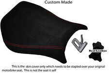 BLACK SUEDE RED STITCH CUSTOM FITS DUCATI MONOPOSTO 748 916 996 998 SEAT COVER