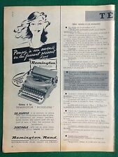 AM83 Pubblicità Advertising Clipping 35x14 cm (1954) REMINGTON RAND NOISELESS