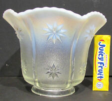 "OLD OPALESCENT GLASS SHADE for LIGHT FIXTURE * approx. 2"" LIP & 4"" HIGH *ON SALE"