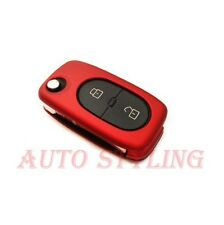 Metallic Red Key Cover Audi 2 Button Case Remote Fob Protector Cap Shell 41mr