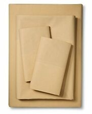 IKEA Sheets Full size 4 piece Sheet set Martorp Tan Beige 400TC Full ( Double )