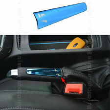 STAINLESS HANDBRAKE MOLDING DECORATION COVER TRIM BLUE For Ford Focus 2012-2015