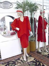 1920s DRESS 1930s FLAPPER Modern Millie Gatsby DOWNTON ABBY CLASSIC RED MED