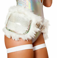 J Valentine FF469 Light-Up Woobie Faux Fur Satchel Bag Purse EDC Rave Fanny Pack