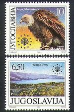Yugoslavia 1990 Vulture/Birds/Lake/Nature/Protection/Conservation 2v set n37258