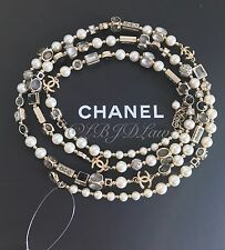 NWT CHANEL TUTTI FRUTTI $4100 2016 CRYSTAL PEARL JEWEL CC X-LONG OPERA NECKLACE