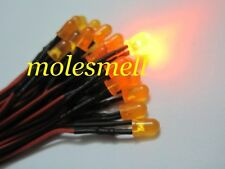 10pcs 5mm 12V diffused Orange LED Light Set Pre-Wired DC Wired Orange lens led
