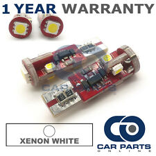 2X WHITE W5W SIDELIGHT NUMBER PLATE INTERIOR REPEATER 5 SMD 360 LED BULBS CANBUS