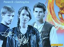 THE HUNGER GAMES - Autogrammkarte - Autograph Autogramm Fan Sammlung Clippings
