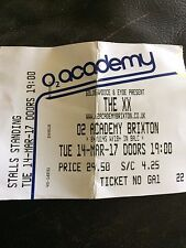USED CONCERT TICKET - THE XX  14 MARCH 2017 AT O2 ACADEMY BRIXTON