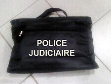 SACOCHE PORTE DOCUMENT PORTABLE 25x38cm  POLICE JUDICIAIRE