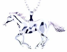 Silver tone horse / pony charm necklace, fairy-tale fashion jewellery