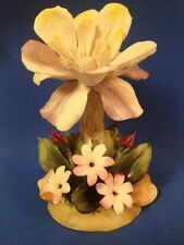 VTG Antique Capodimonte Flower Figurine Made in Italy 7""