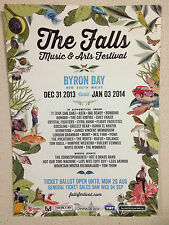 THE FALLS FESTIVAL 2013 Promo Poster A2 !!! MGMT ROOTS POND *Byron Bay Only*NEW*