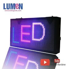 """9"""" X 17"""" LED Sign RGB 7 Color Programmable Scrolling Indoor Moving Display P6"""