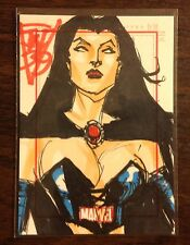 Black Queen Marvel 70th Anniversary color sketch card 1/1 John Watkins-Chow