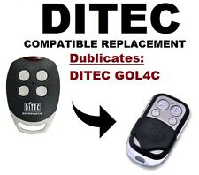 DITEC GOL4C Garage Door/Gate Remote Control Replacement/Duplicator