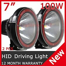 2PCS 100W 7INCH HID XENON DRIVING LIGHT SPOTLIGHT OFFROAD REPLACE 75W  AU STOCK