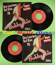 LP 45 7'' BOBBY SOLO Una lacrima sul viso Family life 1978 france no cd mc dvd