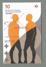 CANADA 2011 Booklet - GEMINI Signs of the Zodiac - 10 x Permanent - Complete MNH
