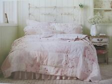 Rachel Ashwell SIMPLY SHABBY CHIC Patchwork Ruffle Embroidered Floral Quilt-King