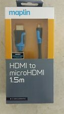 Maplin HDMI To Micro HDMI Cable 1.5m