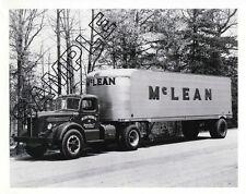 McLEAN TRUCKING 1940s MACK LJ & FRUEHAUF 8x10 GLOSSY B&W PHOTO, Winston-Salem NC