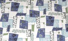 1/2 YARD 18x55 Atomic Hawaiian Barkcloth Upholstery FABRIC ~Daddy-O- Cream~