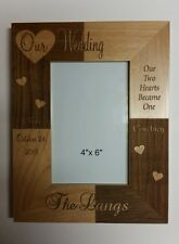 Personalized Laser Engraved 4x6 frame for wedding Anniversary Christmas Gift