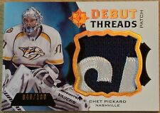 2012-13 UPPER DECK ULTIMATE COLLECTION  DEBUT THREADS PATCH OF CHET PICKARD